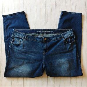 Old Navy Boyfriend Straight Leg Denim Blue Jeans